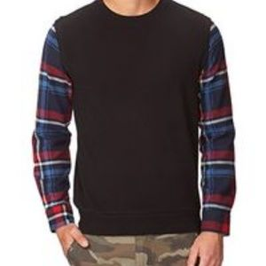 Forever 21 Shirts - FOREVER 21MENS PLAID AND BLACK LONG SLEEVE